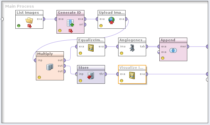 A typical image mining process in RapidMiner